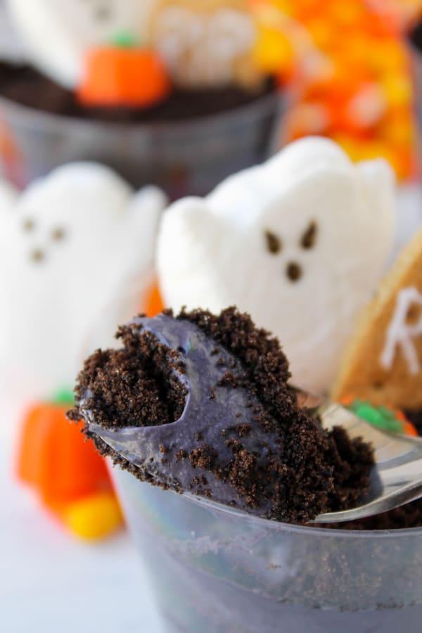 Graveyard Cheesecake Parfaits | TheFoodCharlatan.com