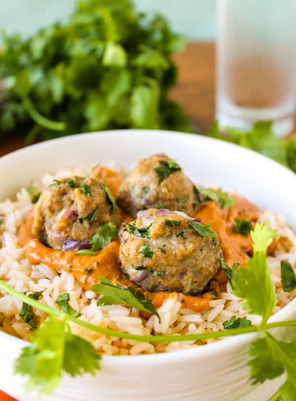 Chicken Tikka Masala Meatballs | TheFoodCharlatan.com