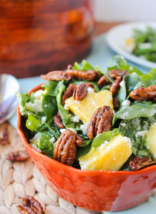 Pineapple Spinach Salad from The Food Charlatan