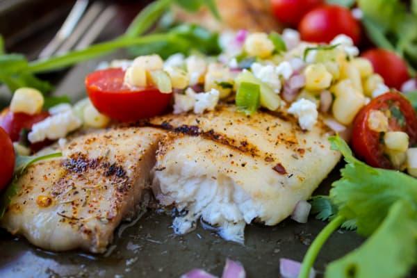 Grilled Tilapia with Corn Salsa |  TheFoodCharlatan.com