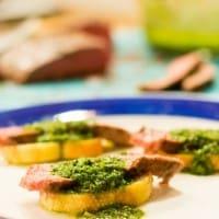 Steak and Chimichurri Toasts