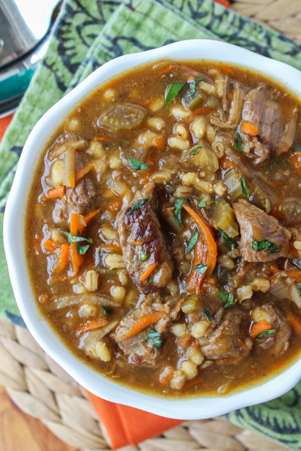 Beef Barley Soup Recipe Slow Cooker The Food Charlatan