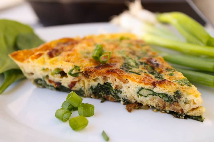 Bacon, Gouda, and Spinach Frittata from TheFoodCharlatan.com