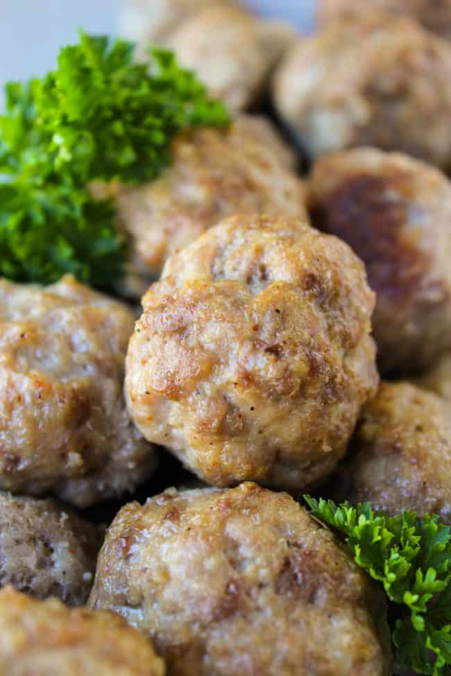 Easy Baked Meatballs from TheFoodCharlatan.com
