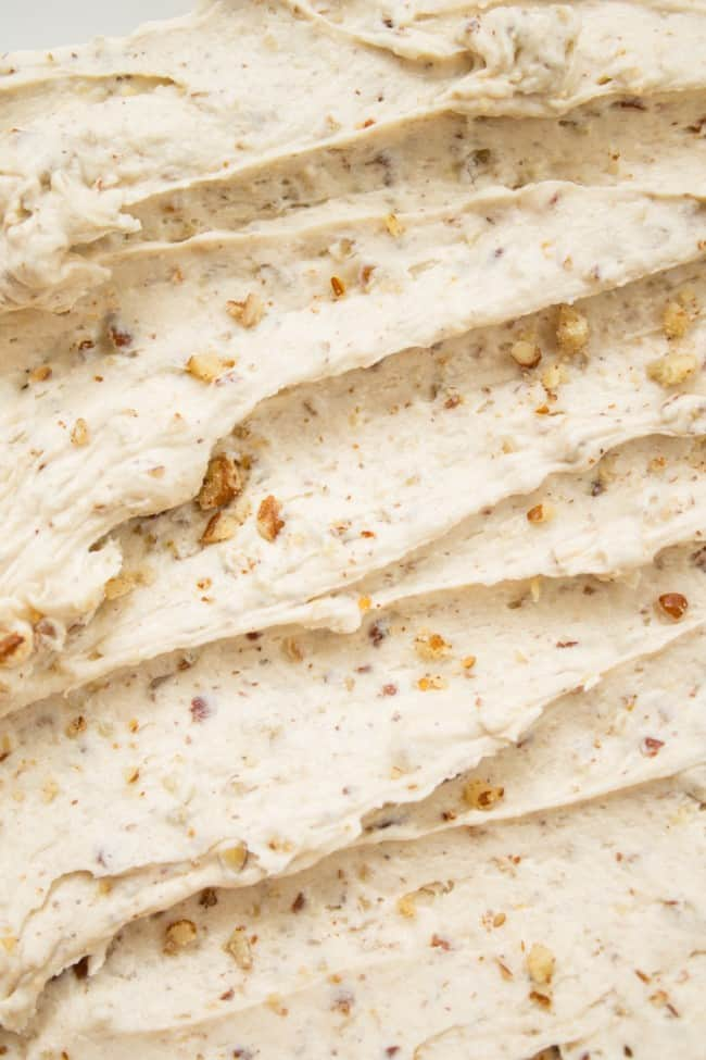 Maple Pecan Frosting from TheFoodCharlatan.com