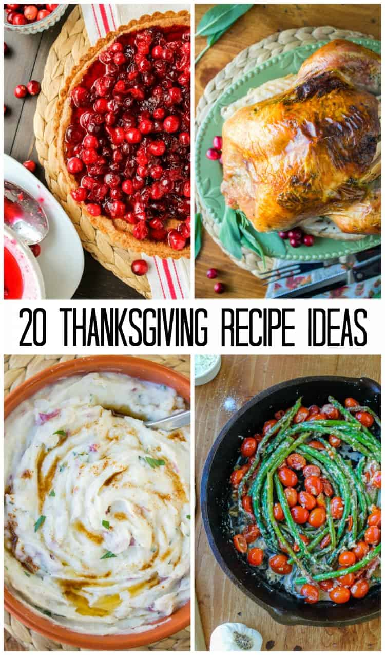 Thanksgiving Menu Recipe Round Up