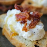 Bacon Ricotta Crostini