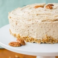 Cinnamon-Cardamom Cake with Maple Pecan Frosting