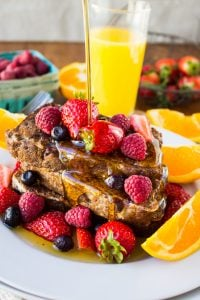 Cranberry Orange Walnut French Toast from The Food Charlatan
