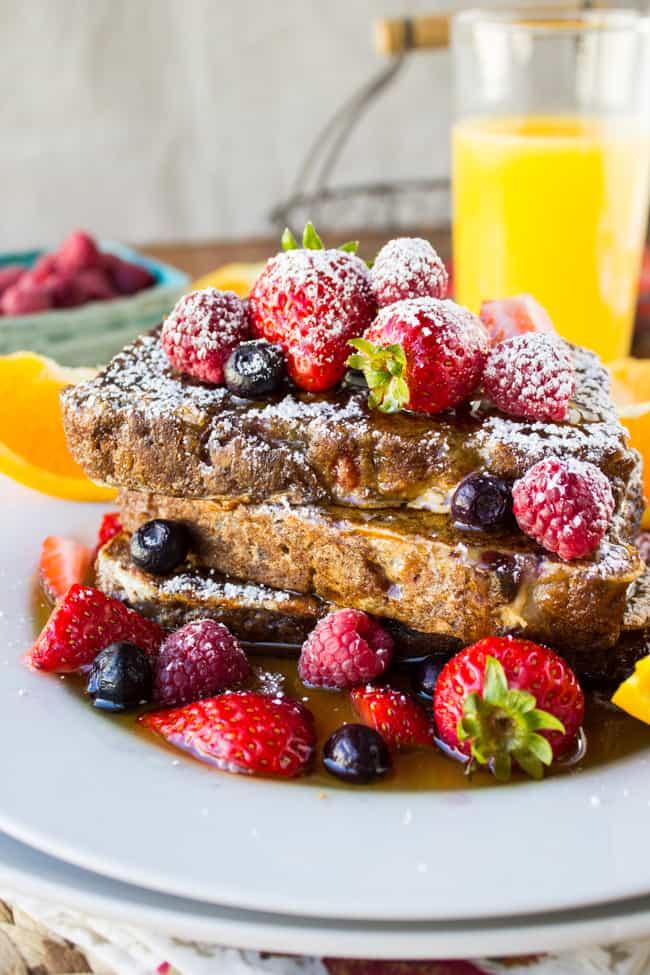 Cranberry Orange Walnut French Toast