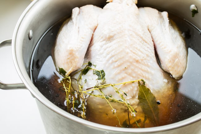 Sage Butter Roasted Turkey from The Food Charlatan