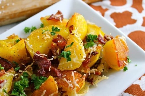 Oven Roasted bacon potatoes
