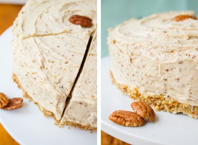 Cinnamon Cardamom Cake with Maple Pecan Frosting from The Food Charlatan