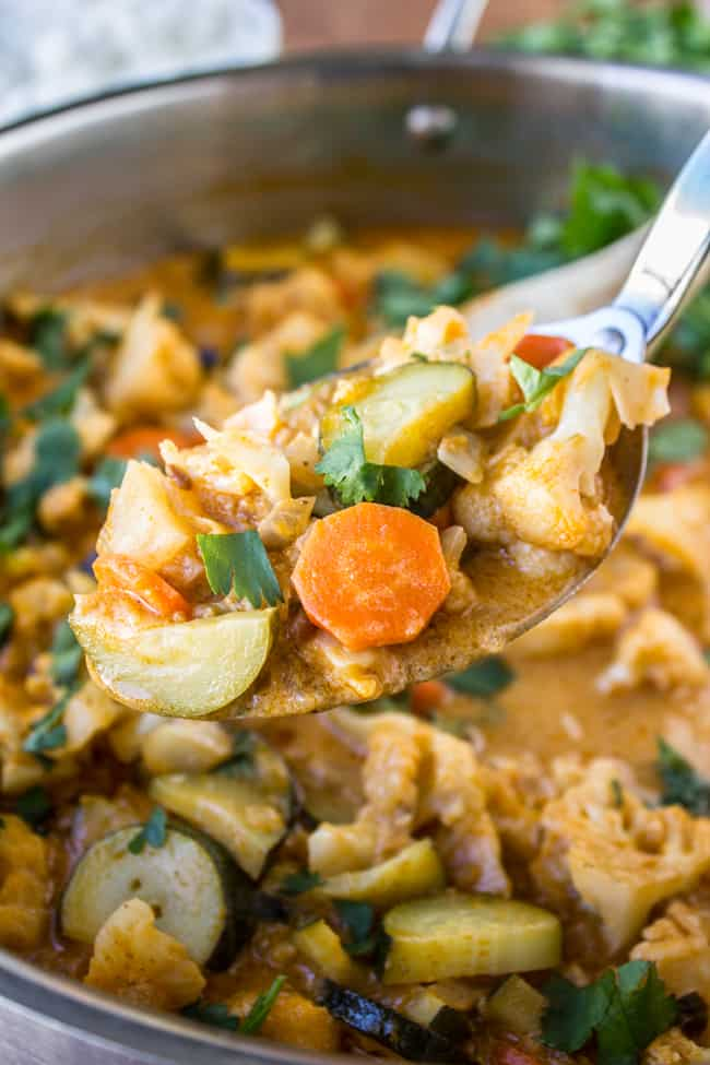 6 Ingredient One Pot Vegetable Curry from The Food Charlatan