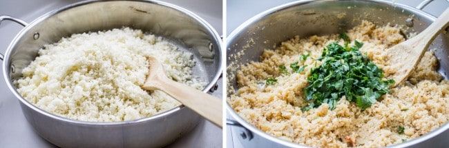 Asian Cauliflower Rice from The Food Charlatan