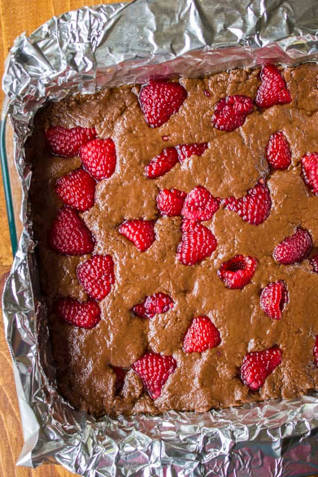 Nutella Fudge with Raspberries from The Food Charlatan