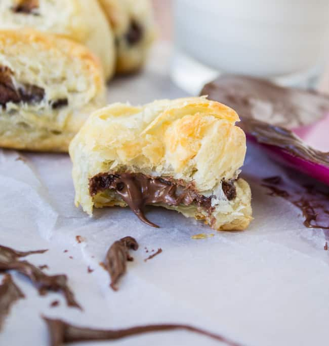 2 Ingredient Nutella Puff Pastry from The Food Charlatan