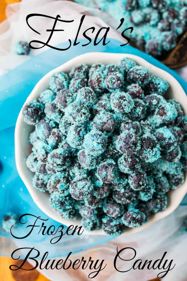 Elsa's Frozen Blueberries Candy from The Food Charlatan