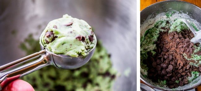 Mint Chocolate Chip Cookies from The Food Charlatan