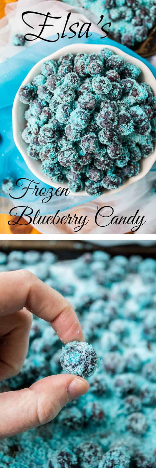 Elsa's Frozen Blueberry Candy from The Food Charlatan