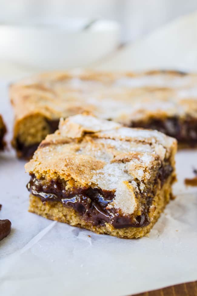 Ganache-Stuffed Peanut Butter Bars from The Food Charlatan