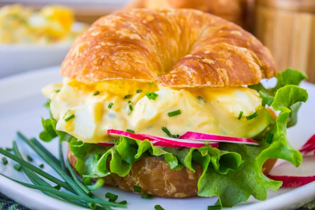Classic Egg Salad Sandwich from The Food Charlatan