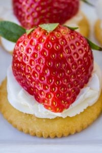Easy Strawberries and Cream Appetizer from The Food Charlatan