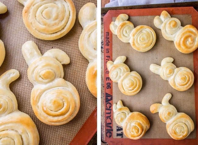 Easter Bunny Dinner Rolls (Lion House Rolls) from The Food Charlatan