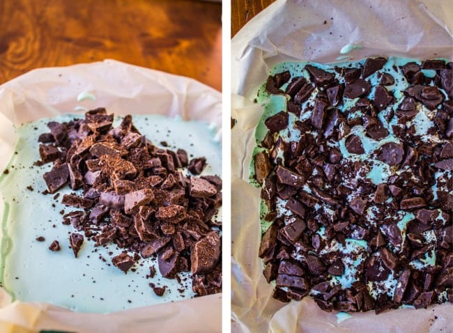 Thin Mint Marshmallow Brownies from The Food Charlatan