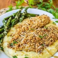 Almond-Crusted Honey Dijon Tilapia