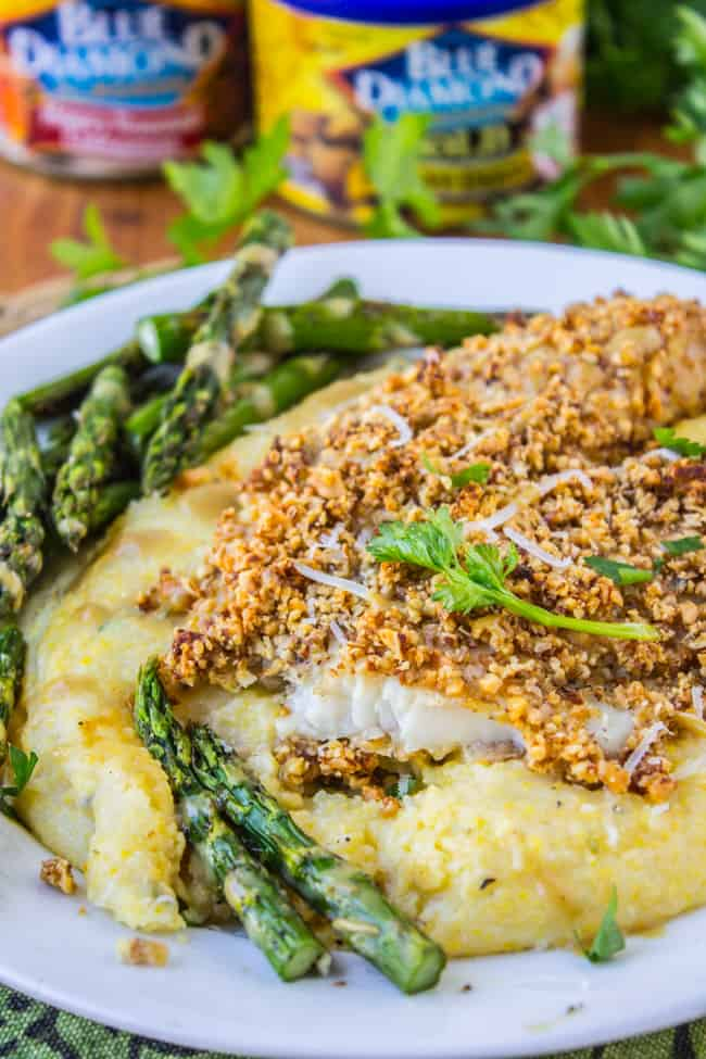 Almond-Crusted Honey Dijon Tilapia from The Food Charlatan