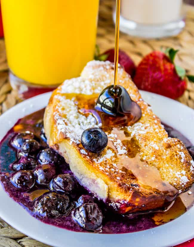 Overnight Blueberry French Toast Casserole from The Food Charlatan