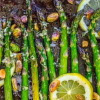 Lemon Asparagus with Pistachios