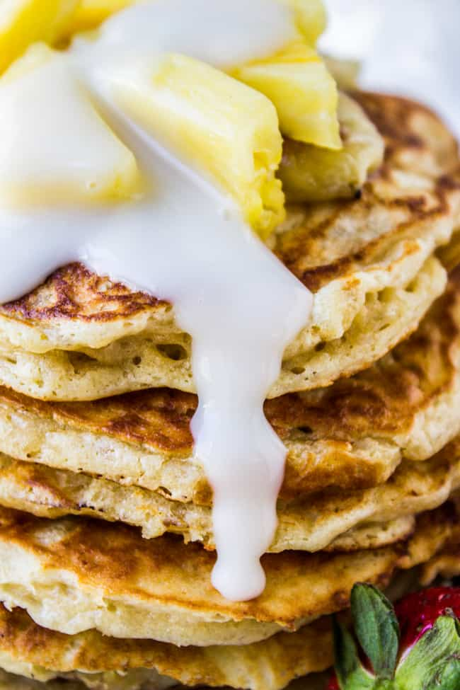 Banana Macadamia Pancakes from The Food Charlatan