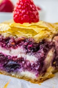 Berry Cheesecake Baklava from The Food Charlatan