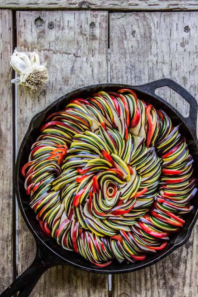 Roasted Garlic Ratatouille from The Food Charlatan