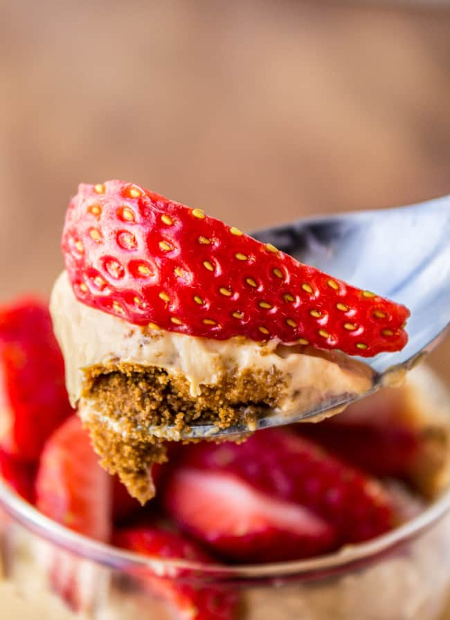 Dulce de Leche Cheesecake Parfaits from The Food Charlatan
