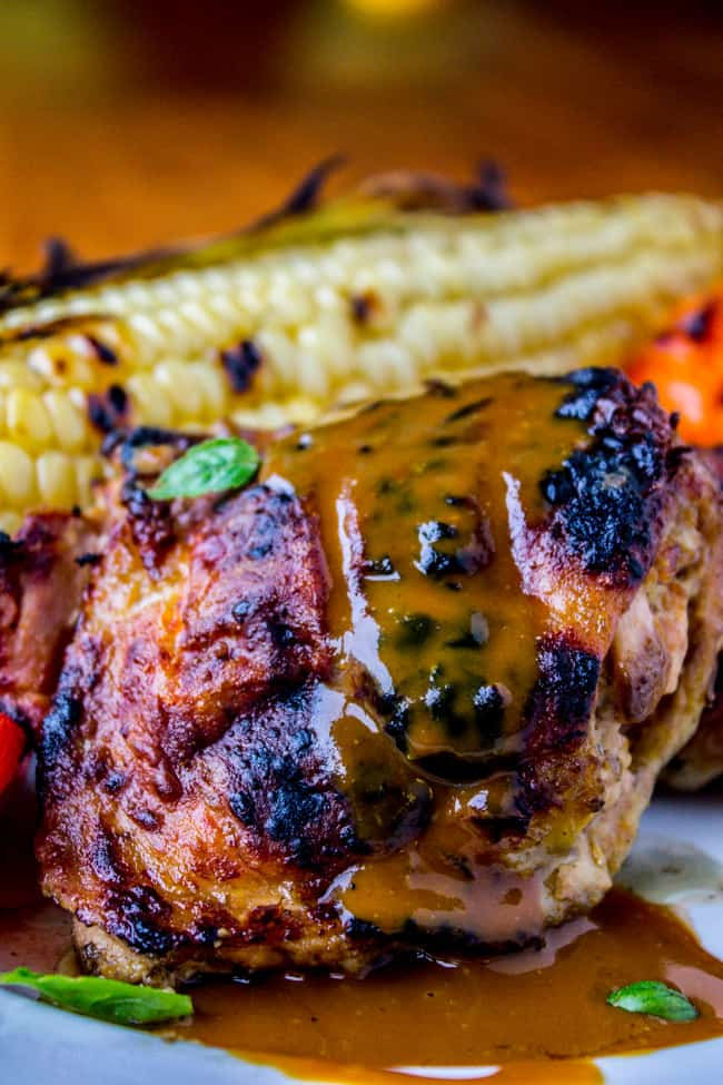 Slow Grilled Mustard Chicken from The Food Charlatan