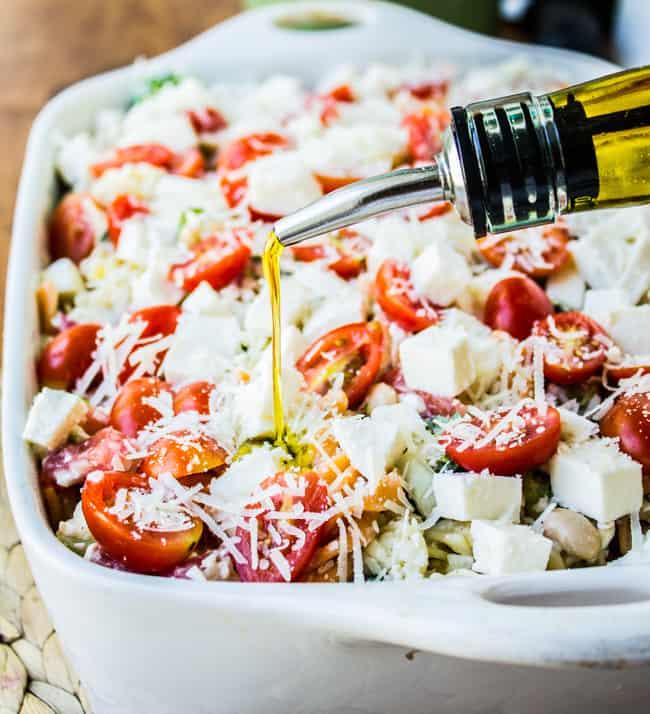 Tomato Basil Summer Veggie Casserole