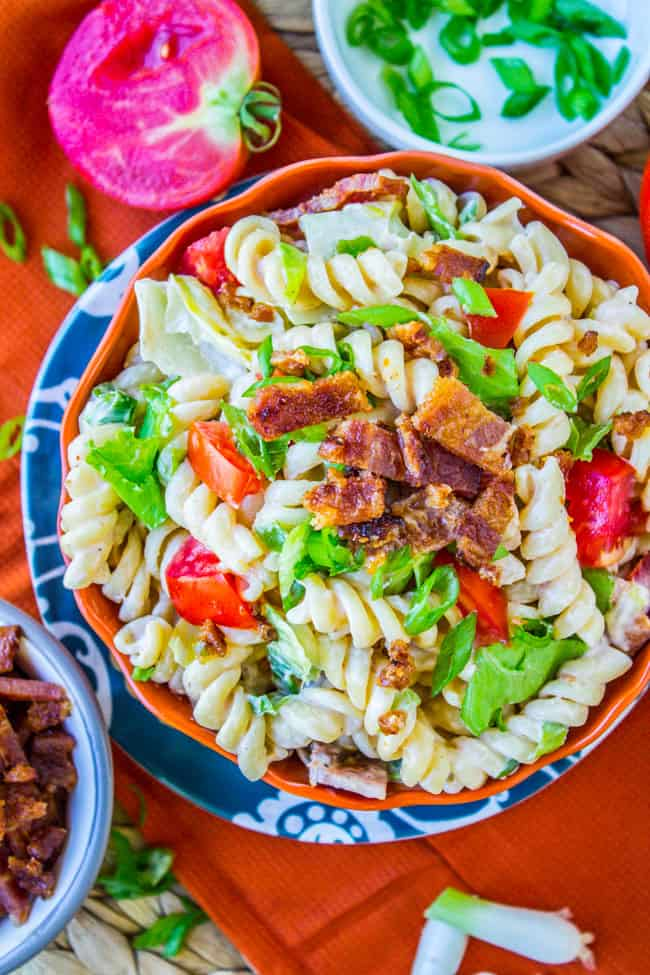 Easy BLT Pasta Salad from The Food Charlatan