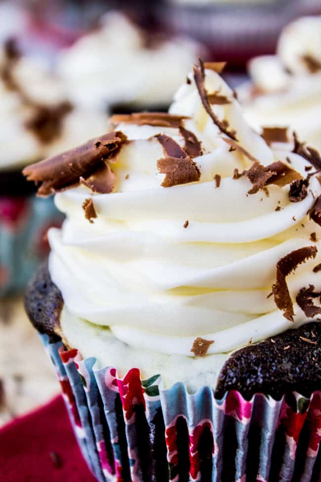 Cream Cheese Chocolate Cupcakes from The Food Charlatan