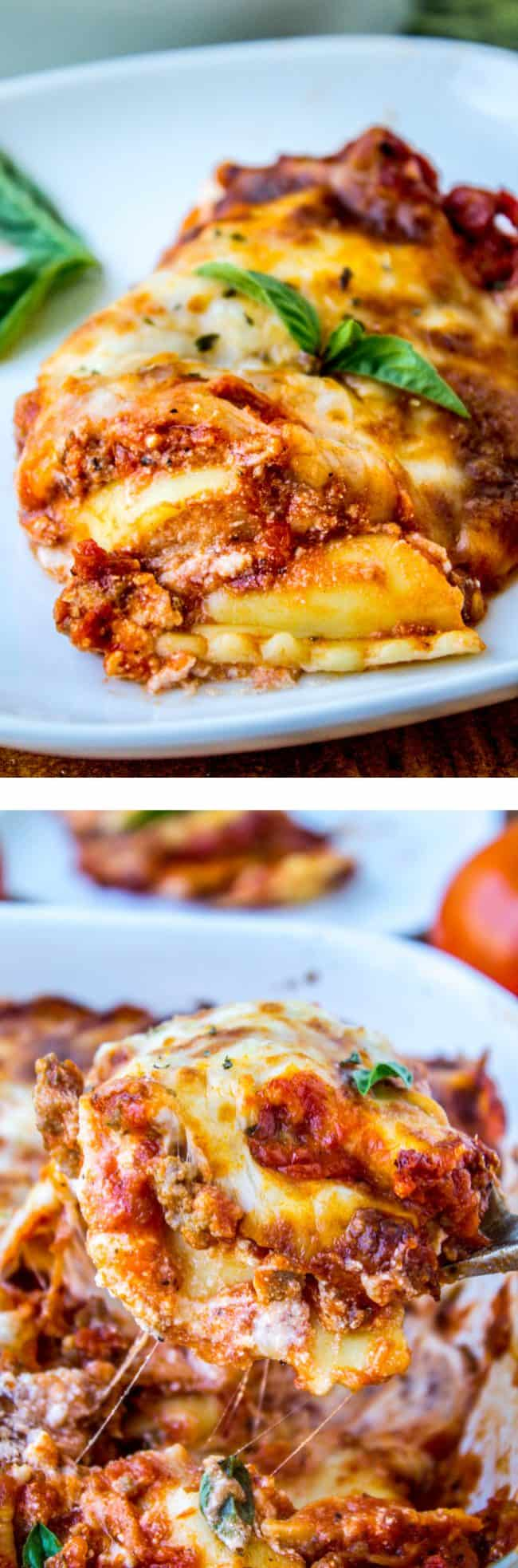 Easy Ravioli Lasagna from The Food Charlatan