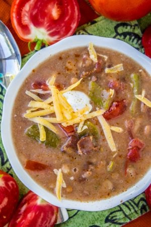 Cowboy Pinto Bean Soup from The Food Charlatan