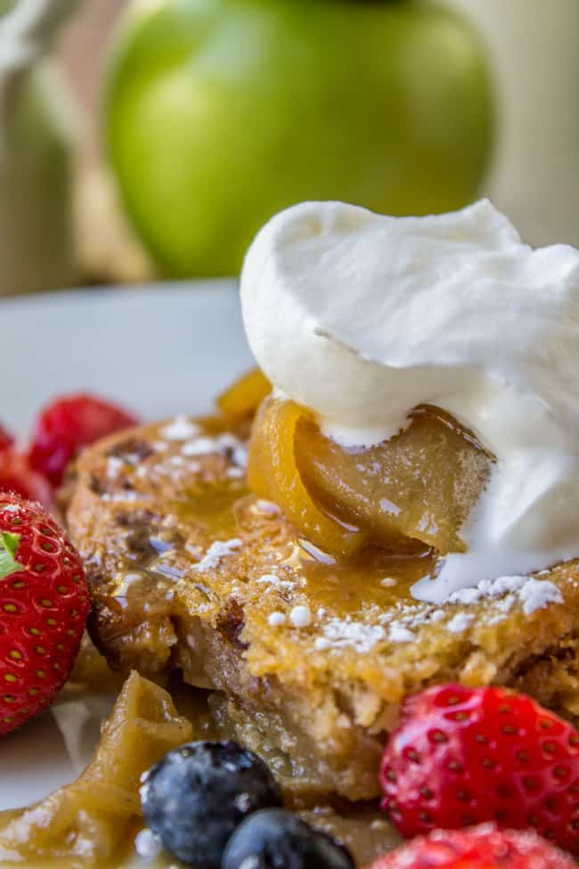 Caramel Apple Upside Down French Toast Bake from The Food Charlatan