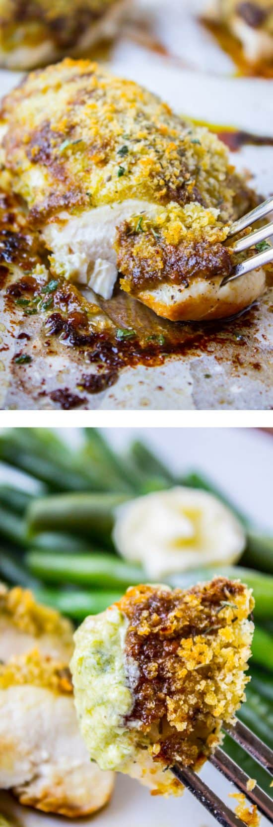 Easy Baked Pesto Chicken from The Food Charlatan