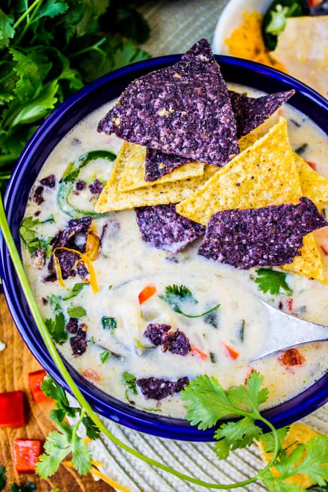 Easy Queso Dip Potato Soup from The Food Charlatan