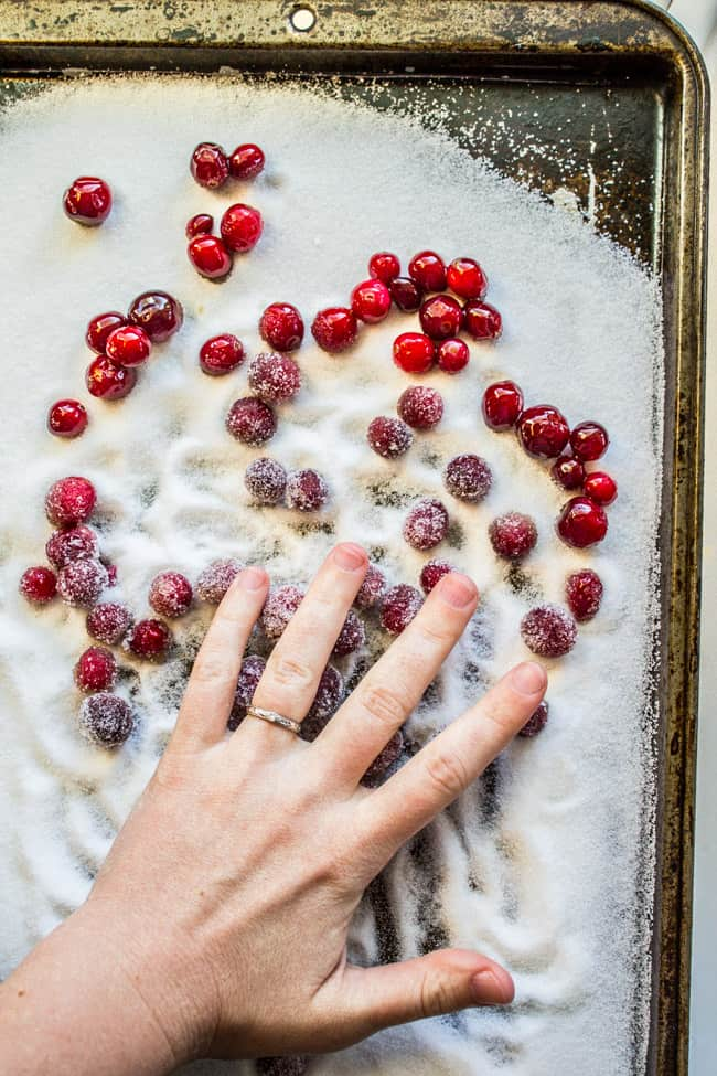 The Easiest Sugared Cranberries Ever from The Food Charlatan
