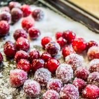 The Easiest Sugared Cranberries