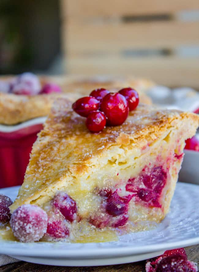 Cranberry Custard Pie from The Food Charlatan