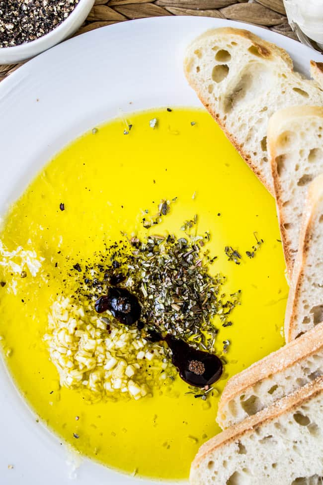 Restaurant-Style Olive Oil and Balsamic Bread Dip from The Food Charlatan